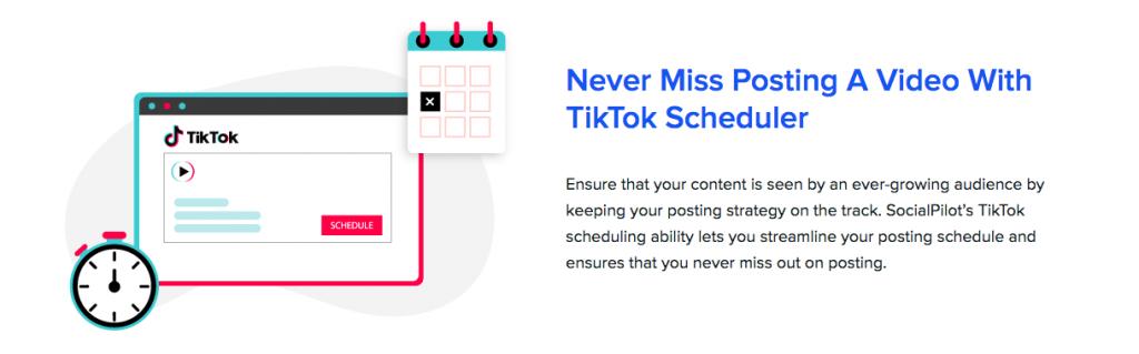 Schedule TikTok posts