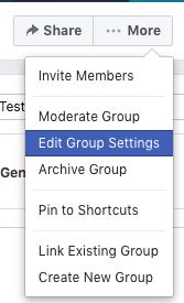 Facebook Edit Group Settings